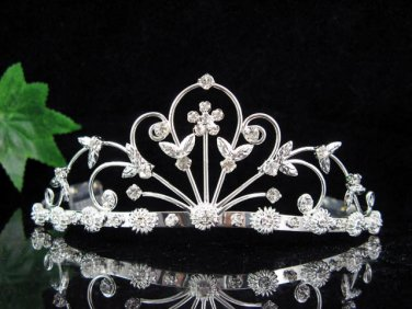 Elegant Pageant Bridal Wedding Princess Rhinestone Tiara Crown Headpiece 5261