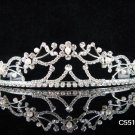 Bridal Queen Party Silver Pearl Elegance Rhinestone headpiece Tiara Crown 5516