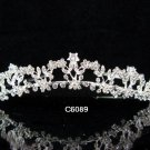 Bridal Queen Alloy Party Silver Elegance Rhinestone headpiece Tiara Crown 6089