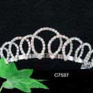 Swarovski Bridal Queen Party Silver Elegance Rhinestone headpiece Tiara Crown 7537