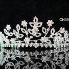 Floral Bridal Queen Party Silver Elegance Rhinestone headpiece Tiara Crown cn26