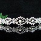Wedding Queen Party Silver Bride Pearl Fancy Rhinestone headband Tiara cn58