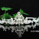 Bride, Wedding Tiara Swarovski Crystals and Rhinestones Headband Regal Crown S1438s