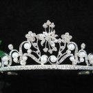 Bride, bridesmaid Headband Wedding Tiara Alloy Crystal Pearl Rhinestones Regal 6104