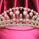 Bride, bridesmaid Radiant Regal Wedding Tiara Crystal Pearl Rhinestones Headband 4641