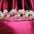 Bride, bridesmaid Radiant Regal Wedding Tiara Crystal Pearl Rhinestones Headband 4854