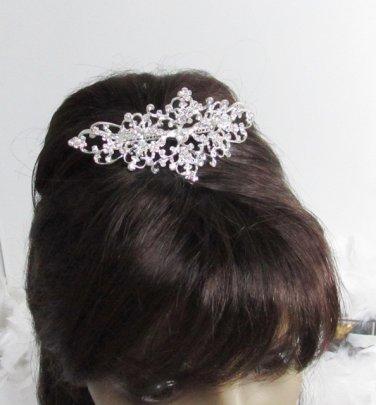Bride, bridesmaid Wedding Elegant Alloy Hair Comb,Vintage Floral Crystal Rhinestones Tiara 2503