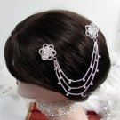 Bride, bridesmaid Wedding Elegant Alloy Hair Comb,Fancy Floral Crystal Rhinestones Clip #1572