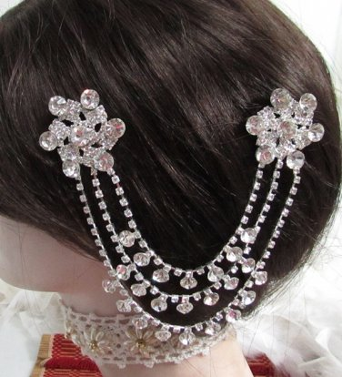 Bride, bridesmaid Wedding Elegant Alloy Hair Comb Pin,Sparkle Crystal Rhinestones Clip #1