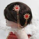 Bridal Tiara ,bridesmaid Golden Wedding Comb,Floral Crystal Rhinestones Bride Clip #1366r