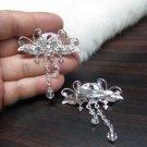 Bridal Tiara ,bridesmaid Wedding Silver Comb,Butterfly Comb,Rhinestones Pair Of Bride Clip #1772