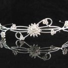 Bridal Headpiece ,Bridal bridesmaid Wedding Tiara ,Iridescent Rhinestones Bride Headband h173