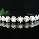 Bridal Headpiece,Bridesmaid Wedding Tiara, Porcelain Floral Bridal Headband 3664