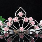 Bridal Headpiece,Bridesmaid Wedding Tiara,Porcelain Floral Bridal Tiara 4881P