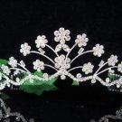 Fancy Floral Silver Bride Bridal tiara ,Bridesmaid Wedding Tiara,Bridal Tiara 774