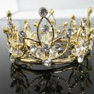 Pageant Bridal Tiara Wedding Princess Rhinestone Golden Bridal Crown Headband,Bride Tiara 70g