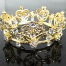 Bridal Tiara Wedding Rhinestone Golden Sweetheart Bridal Small Crown Headpiece,Bride Tiara 121g