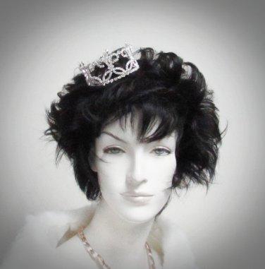 Bridal Tiara Wedding Rhinestone Golden Floral Bridal Small Crown Headpiece,Bride Tiara 398s