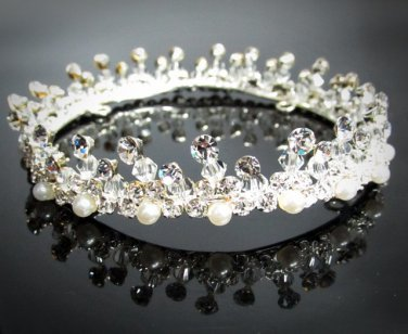 Bridal Tiara Wedding Rhinestone Golden Floral Bridal Small Crown Headpiece,Bride Tiara 2315s