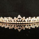 Bridal Wedding Rhinestone Tiara,Alloy Elegant Golden Vintage Bridal Headpiece ,Bride Tiara 629g