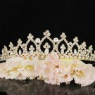 Bridal Wedding Rhinestone Tiara,Alloy Elegant Golden Vintage Bridal Headpiece ,Bride Tiara 7290g