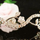Bridal Wedding Tiara,Alloy Elegant Golden Floral Serpent Bride Headband ,Bridal tiara 572g