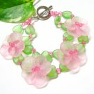 handmade floral Multiple pattern seed bead open end bracelet#1317
