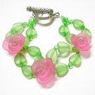 handmade floral multiple pattern seed bead open end bracelet#1320