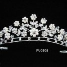 Bridal Wedding Tiara,Elegant Silver Crystal Pearl Swarovski Bride Headpiece tiara 308