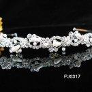 Bridal Wedding Tiara,Elegant Silver Crystal Pearl Swarovski Bride Headband tiara 317