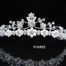 Wedding Tiara,Elegant Silver Queen Swarovski Floral Pearl Bride Bridal tiara 422