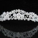 Sparkle Wedding Tiara,Elegant Princess Pearl Silver Swarovski Bride Bridal tiara 523