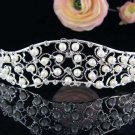 Sparkle Wedding Tiara,Elegant Princess Sweetheart Pearl Silver Bride Bridal tiara 3665