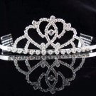 Sparkle Cute Wedding Tiara,Elegant Princess Silver Rhinestone Bride Bridal tiara 3726