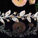 Sparkle Wedding Tiara,Elegant Princess Silver Vine Rhinestone Bride Bridal tiara 3788y