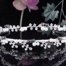 Sparkle Wedding Tiara,Elegant Princess Silver Twin Vine Rhinestone Bride Bridal tiara 4054bk