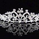 Alloy Floral Wedding Tiara,Elegant Princess Silver Rhinestone Bride Headpiece Bridal tiara 4737s