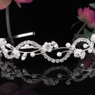Serpent Floral Wedding Tiara,Elegant Princess Silver Rhinestone Bride Headpiece Bridal tiara 4814