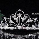 Alloy Floral Wedding Tiara,Elegant Princess Silver Rhinestone Bride Headband Bridal tiara 5261
