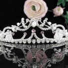 Stunning Wedding Tiara,Elegant Princess Silver Rhinestone Bride Headpiece Bridal tiara 5516pu
