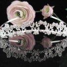 Stunning Wedding Tiara,Elegant Silver Rhinestone Alloy Daisy Bride Headpiece, Bridal tiara 6089
