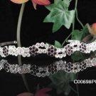 Stunning Daisy Wedding Tiara,Silver Rhinestone Purple Serpent Bride Headband, Bridal tiara 698pu