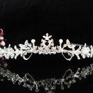 Stunning Alloy Crystal Wedding Tiara,Silver Floral Rhinestone Bride Headband, Bridal tiara 582