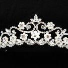 Stunning Silver Plated Fairytale Rhinestone Bridal Tiara 945s