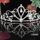 Sparkling Silver Plated Crystal and Rhinestone Sweetheart Accented Bridal Tiara 850