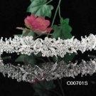 Alloy Daisy Rhodium Clear Crystal and Rhinestone Bridal Tiara ;Wedding regal 701s