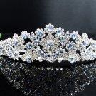 Stunning Crystal Rhinestone Bridal Tiara;Silver Alloy Floral Wedding Headpiece Comb 564b