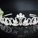 Vintage Crystal Teardrop Bridal Tiara;Silver Alloy Rhinestone Wedding Headpiece Comb 895