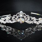 Vintage Crystal Bridal Tiara;Silver Alloy Rhinestone Wedding Headpiece Comb 1003