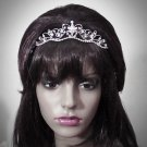 Crystal Bridal Tiara;Princess Silver Rhinestone Wedding Headband Comb 1111s